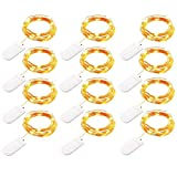 FZZ698 12Pcs 2M 20 LED Fairy Lights Battery String Lights Night Light Led Light Home and Party Diy (yellow)