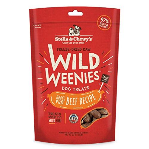 Stella & Chewys Freeze-Dried Raw Beef Wild Weenies Dog Treats, 11.5 oz bag