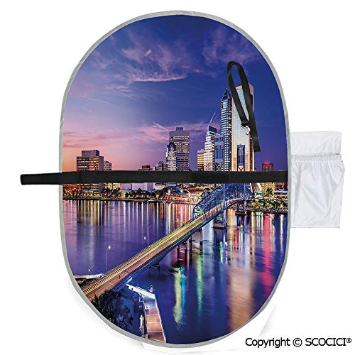 SCOCICI Printed Custom Polyester Baby Diaper Changing Pad Jacksonville Florida Skyline Night St. Johns River Scenic Portable and Foldable Infant Large Nappy Mat 20x27 ()
