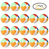 Lumiparty Inflatable Beach Balls(18PACK) 7.5'' Rainbow Colored Beach Balls Beach Balls Pool Party Toys Colorful Beach Balls Party Favors Perfect for Summer Parties Beach Sand & Water Or Swimming Pool