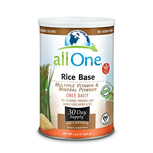 allOne Rice Base Multiple Vitamin & Mineral Powder | Once Daily Multivitamin, Mineral & Whole Food Amino Acid Supplement w/ 6g Protein | 30 Servings