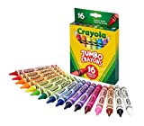 Crayola Jumbo Crayons, Assorted Colors, Great Toddler Crayons, 16Count