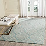 Safavieh Evoke Collection EVK268C Damask Ogee Light Blue and Ivory Area Rug (4′ x 6′) Review