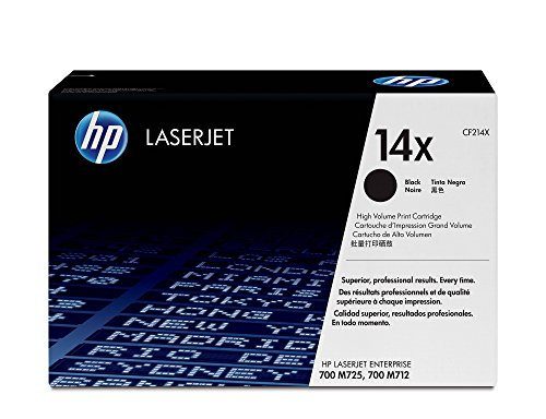 HP 14X (CF214X) Black High Yield Original Toner Cartridge by HP