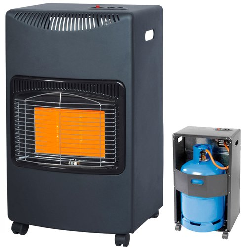 NEW 4.2KW CALOR GAS PORTABLE CABINET HEATER FIRE BUTANE WITH REGULATOR &...
