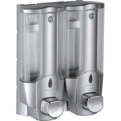 Little World Manual Hand Soap Dispenser Wall Mount Liquid Shampoo Shower Gel Dispenser Hand Cleanser-12 oz Manually Dispenser,Perfect for Office-Garage-Bathroom and Kitchen ?2-Chamber?