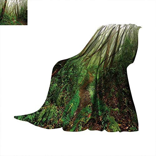 Forest Super Soft Lightweight Blanket Spooky Tropical Exotic