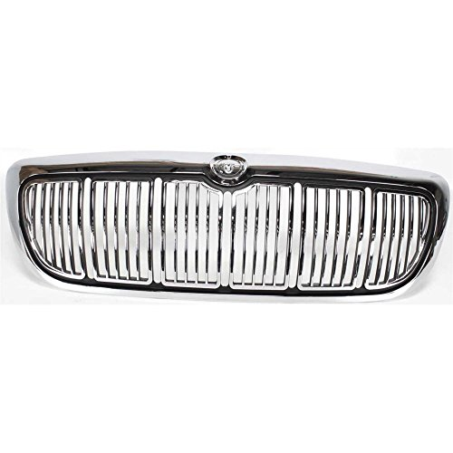 Grille for Mercury Grand Marquis 98-02 Chrome Shell/Painted-Black Insert