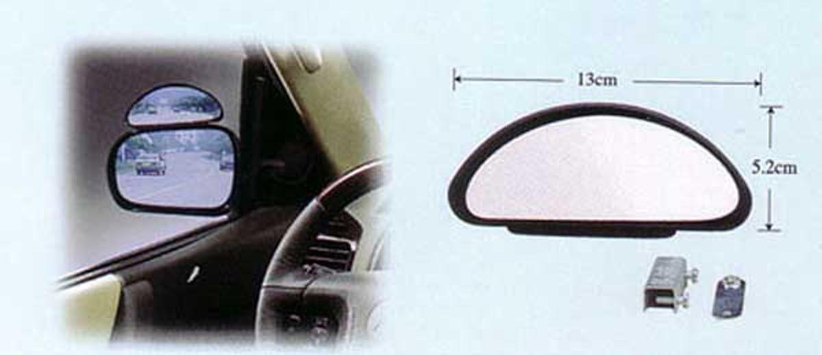 Weitwinkelspiegel Zusatzspiegel Schwarz Aus Kunststoff Für Wohnmobile Transporter Etc Schwarz Auto