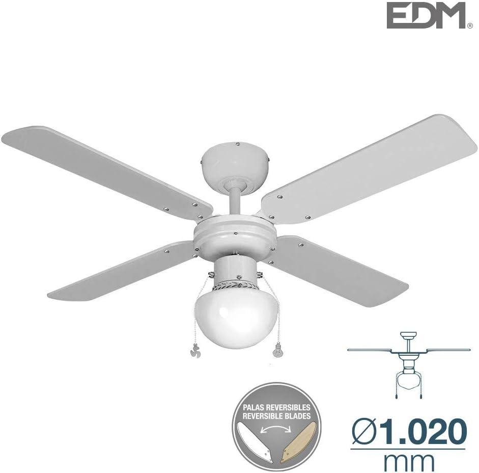 Ventilador de techo CARIBE 50W 85cm blanco 1xE27 60W EDM 33800