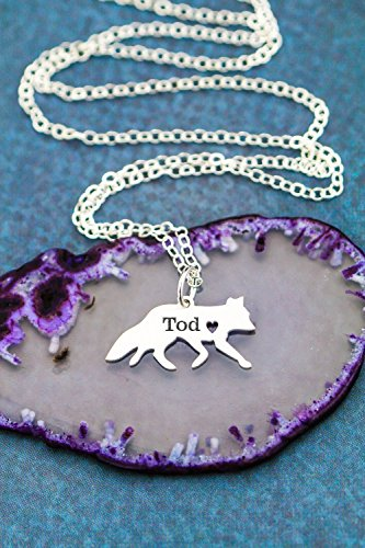 Fox Necklace Pet Jewelry - Custom Animal - IBD - Personalize with Name or Date - Choose Chain Length - Pendant Size Options - 935 Sterling Silver 14K Rose Gold Filled Charm - Ships in 1 Business Day (Charm 14k Pendant Sports Gold)