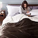 BEDSURE Sherpa Fleece Blanket King Size