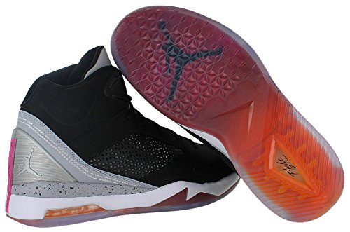 Air Jordan Flight Remix Black / Electric Orange-wolf Gray-fsn Pink