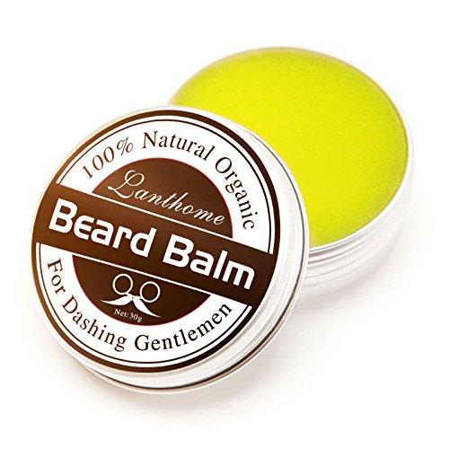 Thinkmax 100% Natural Organic Beard Balm Moisturizing Smoothing Moustache Wax for Dashing Gentlemen, 30g/1.05oz