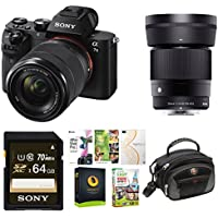 Sony Alpha a7II Mirrorless Camera w/ 28-70mm f/3.5-5.6, Sigma 30mm f/1.4 DC DN Lens Bundle