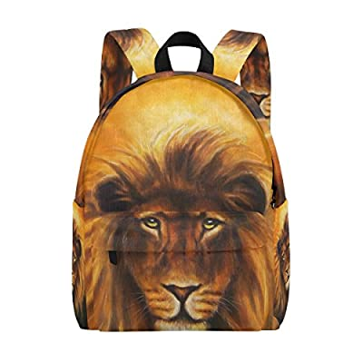 Awesome New Mapolo Lion Portrait With Golden Mane Oil Painting Machost Co Dining Chair Design Ideas Machostcouk