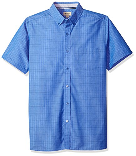 Haggar Men's Short Sleeve Shirt with Chambrey Trim, for sale  Delivered anywhere in USA