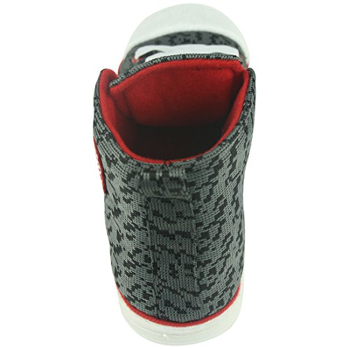 Casa Pantofola Uomo Inverno Caldo Peluche Casa Coperta Allaperto Moda Pantofole Scarponi Da Ginnastica Grigio Scuro