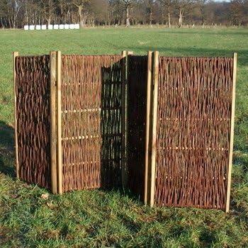 Gartengruen24 - Panel separador de mimbre (120 cm): Amazon.es: Jardín