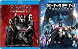 Marvel Cinematic Universe C-Men Collection Up X-Men: Apocalypse (Blu-ray +DVD + Digital HD) and X-Men: Days of Future Past - The Rogue Cut (Blu-ray +DVD + Digital HD) 2-Blu-ray Bundle Double Feature