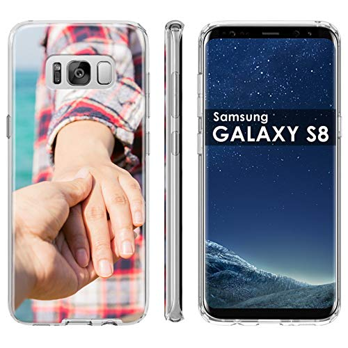 Samsung Galaxy S8 Customized Phone Case Cover [Personalized Phone Case], Premium Thin Gel TPU Phone Cover with TalkingCase Amazon Custom Tool, Your Baby Photo HERE, Designed in USA