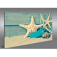 Quadro moderno Starfish Urlaubsfeeling spiaggia del mare Stampa su tela - Quadro x poltrone salotto cucina mobili ufficio casa - fotografica formato XXL Quadri