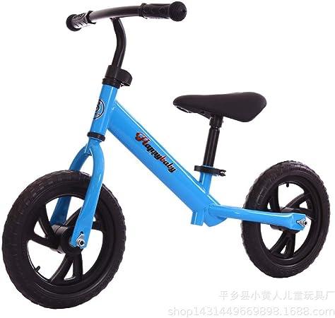 Balance Coche para Equilibrio Infantil con Música Flash No Pedalear Bicicleta Adecuado para Niños De 2 A 6 Años Bebé Y Niña Scooter,Blue-12: Amazon.es: Hogar
