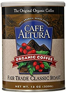 Cafe Altura Ground Organic Coffee, 12 Ounce (Pack of 3)