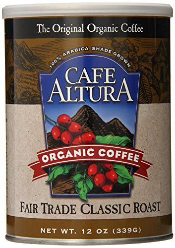 Cafe Altura Ground Organic Coffee, Fair Trade Classic Roast, 12 Ounce (Pack of 3) (Fair Classic Roast Trade)