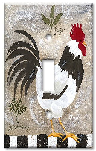 Rooster Switch Cover - Art Plates - Jennifers Rooster Switch Plate - Single Toggle