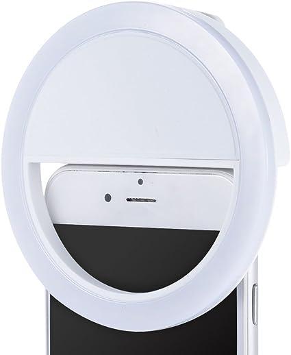 Amazon Com Efanr Selfie Ring Light Usb Rechargeable 36 Led Clip