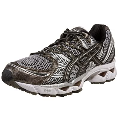 ASICS Men's GEL-Nimbus 12 Running Shoe,Black/Caviar/Lightning,14 M US