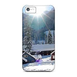 Premium [qqJ1912cubK]white Mountain Village Case For Iphone 5c- Eco-friendly Packaging