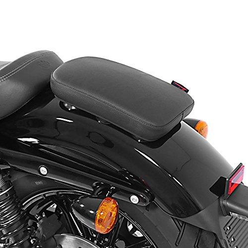 Sellino Passeggero con Ventose per Harley Davidson Sportster 883 Superlow (XL 883 L) Craftride Glider X nero