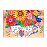 yyoungsell Flora in Cup Table Mats,Placemat Non-Slip Washable Place Mats,Heat Resistant Kitchen Tablemats Dining Table