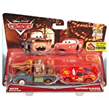 Disney/Pixar Cars Mater with No Tires and Lighting McQueen with No Tires Vehicle 2-Pack