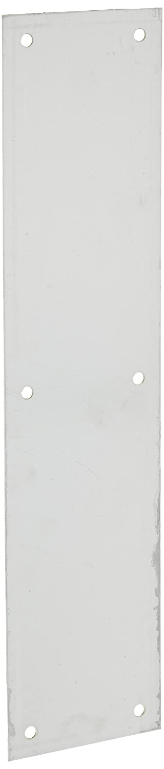 Rockwood 70B.26D Brass Standard Push Plate, Four Beveled Edges, 15' Height x 3-1/2' Width x 0.050' Thick, Satin Chrome Plated Finish 15 Height x 3-1/2 Width x 0.050 Thick Rockwood Manufacturing Company