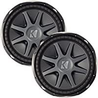 Kicker 10CVX154 CompVX 15 Subwoofers Bundle Dual 4-Ohm Voice Coils for wiring to a 1-ohm monoblock amplifier