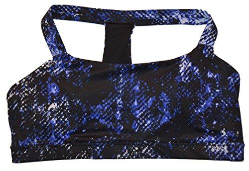 GapFit Blue Snakeskin Medium Impact Racerback T Sports Bra XL (Gap Black Bras)