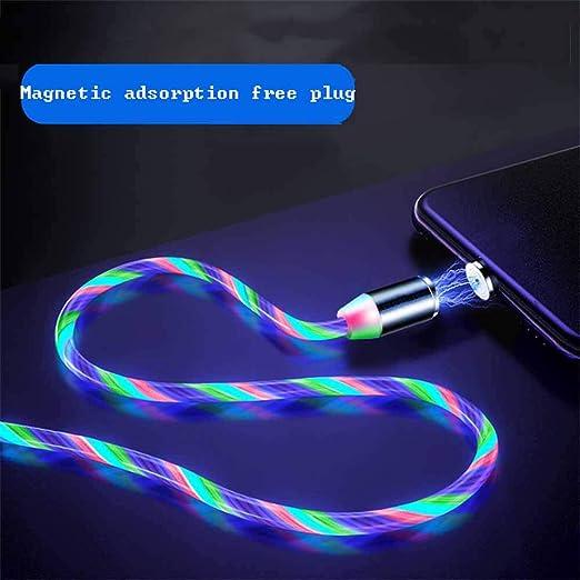 Amazon.com: VENERATEFLL Cable de carga magnético USB, 360 ...