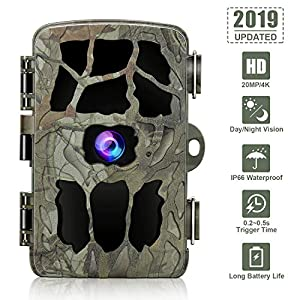 GRM Wildlife Camera Trail Camera 20MP 4K Trail Game Camera with Night Vision Motion Activated, IP66 Waterproof 0.2s…
