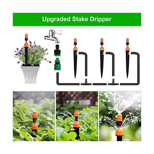 Tencoz Kit di irrigazione a Goccia, 30m Set di Irrigazione Regolabile Sistema di Irrigazione da Giardino DIY Kit di… 3 spesavip