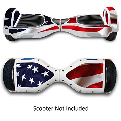 Skin for Self-Balancing Electric Scooter - Sticker for Skate Hover Board - Decal for Self Balance Mobility Longboard - Smart Protective Cover Vinyl Case for 2 Wheel Scooter Bluetooth Drifting Board (Electric Scooter Eco)