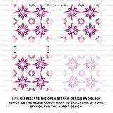 Plectro Tile Stencil - Reusable Floor Tile Stencils