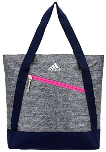 Cheap adidas Squad Tote Bag, Onix Jersey/Collegiate Blue/Bahia Magenta/Frozen Yellow, One Size