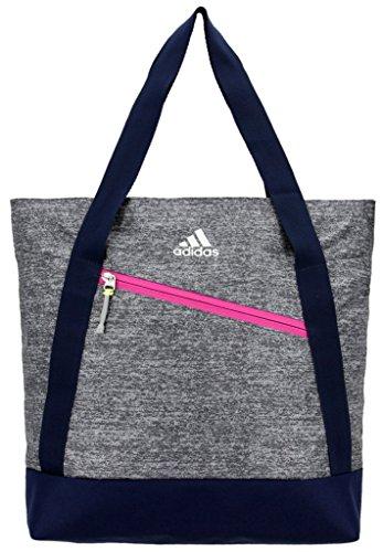 (adidas Squad Tote Bag, Onix Jersey/Collegiate Blue/Bahia Magenta/Frozen Yellow, One)