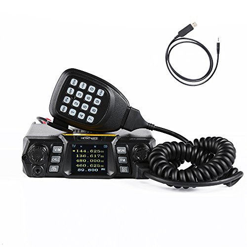 HESENATE MT-250D x QYT (Gen.2 KT-980Plus) Dual Band 65/50-Watt FM Transceiver Base, Mobile Radio VHF: 136-174MHz(2M) UHF: 400-520MHz(70CM) HAM (Amateur) Radio with FREE Programming Cable (Uhf Base)