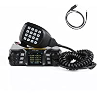 HESENATE MT-250D x QYT (Gen.2 KT-980Plus) Dual Band 65/50-Watt FM Transceiver Base, Mobile Radio VHF: 136-174MHz(2M) UHF: 400-520MHz(70CM) HAM (Amateur) Radio with FREE Programming Cable