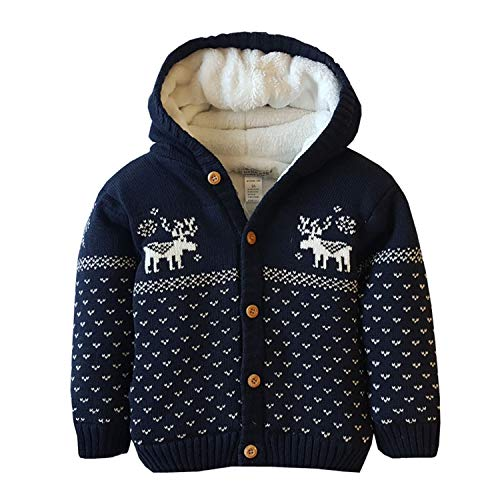 Baby Toddler Boys Girls Striped Long Sleeve Sweaters Cardigan Warm Outerwear Jacket Navy (Sweaters Christmas Infant)