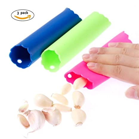 Silicone Garlic Peeler Tube Home Kitchen Stripper Easy Peeling Tools Tube Shape Kitchen, Dining & Bar Peelers & Slicers